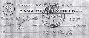 Bank of Stanfield - Bank Note